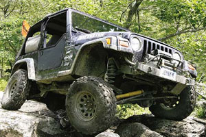 Jeep Over Rocks