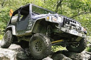 Jeep Over Rocks