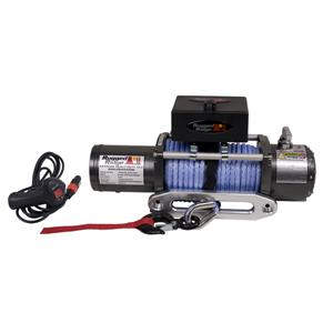 Performance 10,500lbs Off Road Winch with Prewound Synthetic Rope by Rugged Ridge
