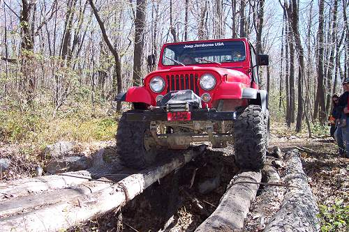 Jeep Wrangler off-roading in PA