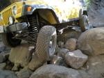 Jeep Wrangler wheeling at Big Bear Lake, CA