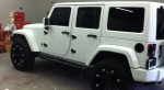 Side Angle Photo - Matte White Customized Jeep Wrangler Unlimited
