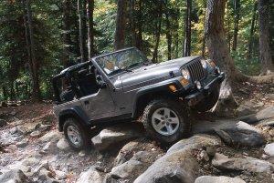 TJ Wrangler Rock Crawling