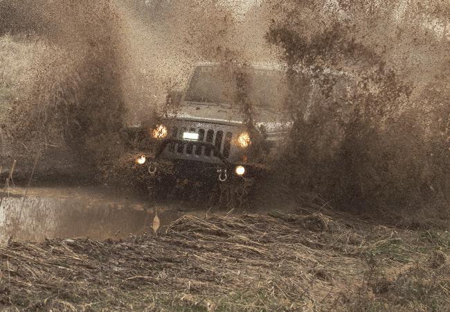 JK Wrangler Mud Bogging