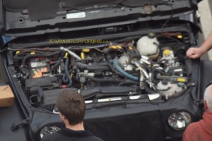 Spy Shot of the 2018 Jeep Wrangler Hurricane Engine