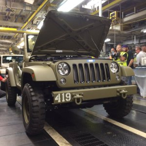 Concept rolling off the Wrangler assembly line