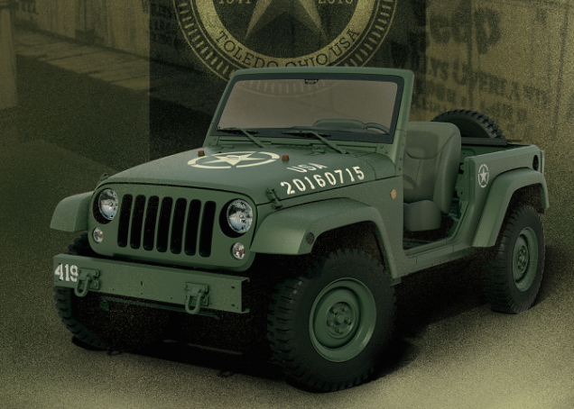 Military Concept Wrangler Pays Tribute To 75 Years Of Jeep Greatness