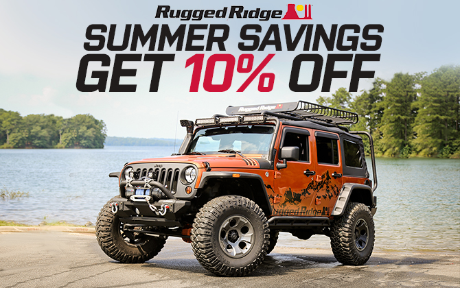 Rugged Ridge Summer Jeep Wrangler Savings