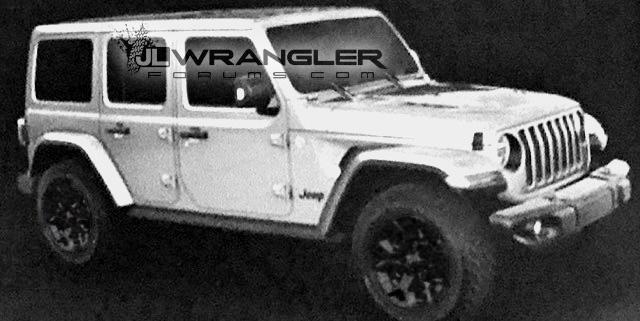 2018 JL Rubicon Wrangler Leaked Image