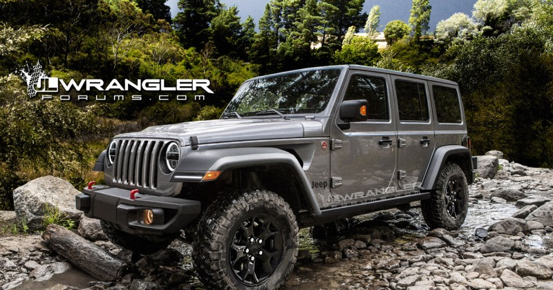 Grey 2018 JL Wrangler