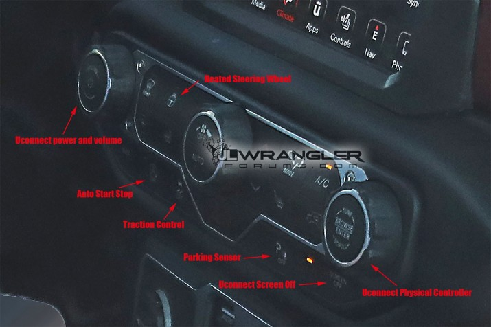 2018 Jeep Wrangler Buttons