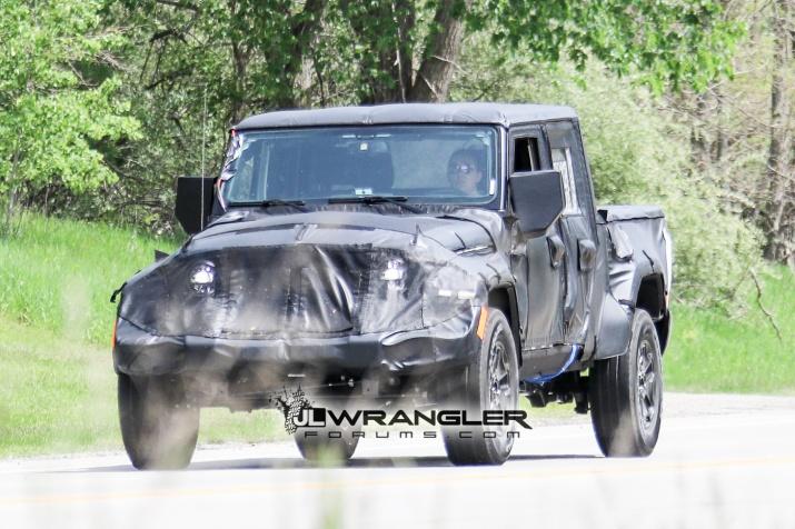 2019 JT Wrangler Pickup Truck Front Shot